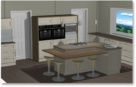 Woodknot custom kitchen and bespoke furniture manufacturing process in plettenberg bay Kitchen design rendering software